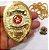 Distintivo Investigador Profissional Folheado a Ouro Brinde Bótom - Imagem 4