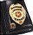 Distintivo Porta Funcional Investigador Particular Civil Folheado A Ouro Brinde Bótom - Imagem 1