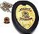 Distintivo Agente De Segurança Couro Folheado Brinde Bótom - Imagem 1