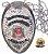 Distintivo Agente De Escolta Armada São Paulo Folheado À Prata Brinde Bótom - Imagem 1