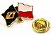 Bótom Pim Broche Bandeira Brasil X Polônia Folheado A Ouro - Imagem 3