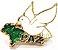 Pim Bótom Broche Pin Pomba Da Paz Cristão Folheado A Ouro - Imagem 1