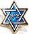 Pim Bótom Broche Hexagrama Estrela De Davi Folheado A Ouro - Imagem 1