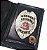 Distintivo Porta Funcional Agente De Escolta Armada São Paulo Folheado À Prata Brinde Bótom - Imagem 1
