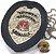 Distintivo Agente De Escolta Armada São Paulo Couro Folheado À Prata Brinde Bótom - Imagem 1