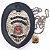 Distintivo Agente De Escolta Armada São Paulo Couro Folheado À Prata Brinde Bótom - Imagem 2