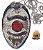 Distintivo Investigador Profissional Folheado À Prata Brinde Bótom - Imagem 1