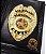 Distintivo Carteira Couro Investigador Profissional Civil Brinde Bótom - Imagem 1