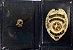 Distintivo Porta Funcional Investigador Profissional Civil Folheado A Ouro - Imagem 2