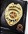 Distintivo Porta Funcional Investigador Profissional Civil Folheado A Ouro - Imagem 1