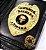 Distintivo Carteira Couro Agente De Escolta Armada Folheado A Ouro Brinde Bótom - Imagem 1