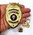 Distintivo Agente De Escolta Armada Folheado A Ouro Brinde Bótom - Imagem 4