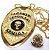Distintivo Agente De Escolta Armada Folheado A Ouro Brinde Bótom - Imagem 2
