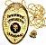 Distintivo Agente De Escolta Armada Folheado A Ouro Brinde Bótom - Imagem 1