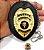Distintivo Agente De Escolta Armada Couro Folheado A Ouro Brinde Bótom - Imagem 4