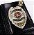 Distintivo Carteira Couro Agente Vigilante Folheado À Prata Brinde Bótom - Imagem 1