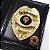 Distintivo Carteira Couro Agente De Segurança Folheado A Ouro Brinde Bótom - Imagem 1