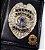 Distintivo Carteira Couro Agente De Escolta Armada Folheado À Prata Brinde Bótom - Imagem 1