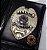 Distintivo Carteira Couro Agente De Segurança Folheado À Prata Brinde Bótom - Imagem 1