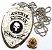 Distintivo Agente Escolta Armada Folheado À Prata Brinde Bótom - Imagem 3