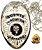 Distintivo Agente Escolta Armada Folheado À Prata Brinde Bótom - Imagem 2