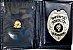 Distintivo Porta Funcional Agente De Escolta Armada Folheado À Prata + Bótom - Imagem 2