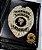 Distintivo Porta Funcional Agente De Escolta Armada Folheado À Prata + Bótom - Imagem 1