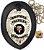Distintivo Agente De Escolta Armada Couro Folheado À Prata + Bótom - Imagem 2