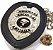 Distintivo Agente De Escolta Armada Couro Folheado À Prata + Bótom - Imagem 1