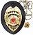 Distintivo Agente De Segurança Pessoal Couro Folheado A Ouro + Bótom - Imagem 1