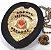 Distintivo Agente De Segurança Pessoal Couro Folheado A Ouro + Bótom - Imagem 2