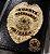 Distintivo Carteira Couro Agente De Segurança Privada Folheado A Ouro + bótom - Imagem 1