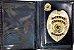 Distintivo Porta Funcional Agente De Escolta Folheado A Ouro Brinde Bótom - Imagem 2