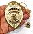 Distintivo Agente De Escolta Folheado A Ouro Brinde Bótom - Imagem 1