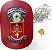Distintivo Advogado Direito Oab Couro Vermelho Folheado Brinde Bótom - Imagem 1