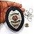 Distintivo Agente Vigilante Folheado À Prata Couro + Bótom - Imagem 4