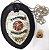 Distintivo Agente Vigilante Folheado À Prata Couro + Bótom - Imagem 2