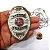 Distintivo Agente Vigilante Folheado À Prata Brinde Bótom - Imagem 4