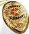 Distintivo Agente Vigilante Folheado A Ouro Brinde Bótom - Imagem 1