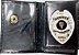 Distintivo Porta Funcional Agente Segurança Folheado À Prata Brinde Bótom - Imagem 1