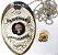 Distintivo Agente De Segurança Folheado À Prata Brinde Bótom - Imagem 2