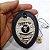 Distintivo Agente De Segurança Couro Folheado À Prata Brinde Bótom - Imagem 4