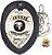 Distintivo Agente De Segurança Couro Folheado À Prata Brinde Bótom - Imagem 2