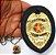 Distintivo Agente Vigilante Folheado A Ouro Couro Brinde Bótom - Imagem 4