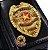Distintivo Carteira Couro Detetive Profissional Folheado A Ouro Brinde Bótom - Imagem 1