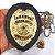 Distintivo Agente Segurança Privada Couro Folheado + Bótom - Imagem 5