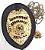 Distintivo Agente Segurança Privada Couro Folheado + Bótom - Imagem 2