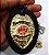 Distintivo Bombeiro Civil Couro Folheado A Ouro Brinde Bótom - Imagem 3