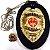 Distintivo Bombeiro Civil Couro Folheado A Ouro Brinde Bótom - Imagem 1