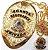 Distintivo Agente De Segurança Privada Folheado A Ouro Brinde Bótom - Imagem 1